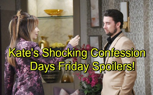 Days of Our Lives Spoilers: Friday, June 22 – Kate's Admission Stuns Chad – Eve and Brady Get Suckered – Gabi's Awful Surprise