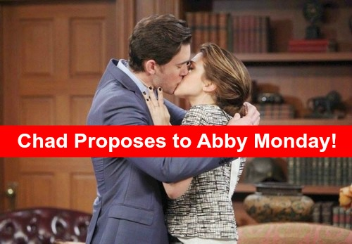 Days of Our Lives (DOOL) Spoilers: Chad Proposes to Abby Monday – Andre Learns He's Been Duped, Abigail and Thomas in Danger