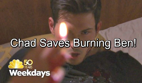 Days of Our Lives (DOOL) Spoilers: Chad Saves Burning Ben, Fears for Abigail's Sanity