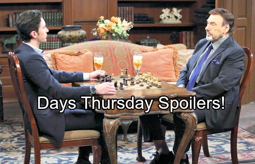 'Days of Our Lives' Spoilers: Deimos Pops the Question, Nicole Shares News with Chloe – Chad Reflects on Stefano
