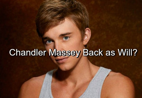 Days of Our Lives (DOOL) Spoilers: Is Chandler Massey Returning as Will Horton - Former Publicist Weighs In