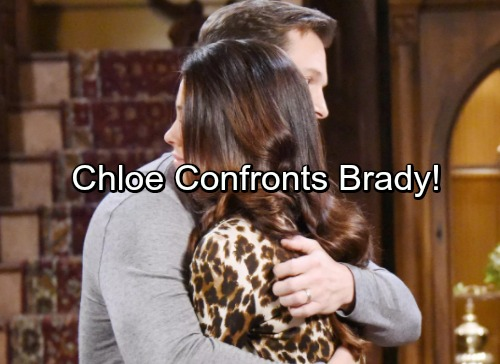 Days of Our Lives Spoilers: Chloe Confronts Brady – Seeks Truth About Eric and Nicole's Dangerous Connection