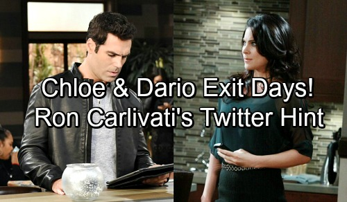 Days of Our Lives Spoilers: Head Writer Ron Carlivati Tweets Cast Clue – Dario and Chloe Out at DOOL