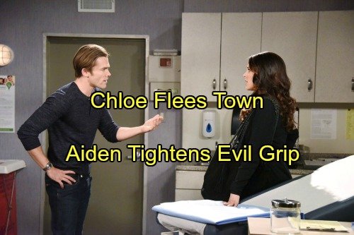 'Days of Our Lives' Spoilers: Chloe Flees Town as Nicole Flips Out – Aiden Tightens Blackmail Grip on Hope