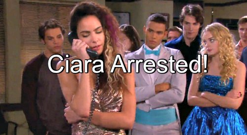 Days of Our Lives (DOOL) Spoilers: Ciara Arrested After Wild Prom Night of Vandalism – Hope Shocked