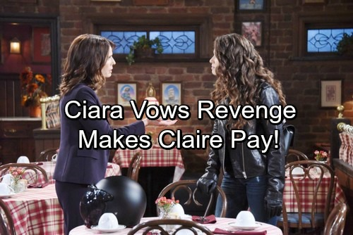 Days of Our Lives Spoilers: Ciara Vows Revenge, Makes Claire Pay for Theo Drama