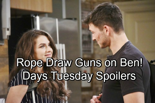 Days of Our Lives Spoilers: Tuesday, July 31 – Marlena Faces a Sami Mystery – Hope and Rafe Pull Guns on Ben – Steve's New Mission