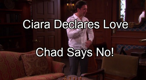 'Days of Our Lives' Spoilers: Ciara Declares Love for Chad, Hopes for Romance – Chad Rejects Her, Only Wants Abigail