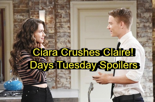 Days of Our Lives Spoilers: Tuesday, March 13 – Claire Gets Infuriating News – Tripp and Ciara Kiss – Adrienne Comforts Steve