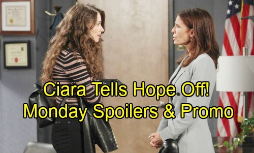 Days of Our Lives Spoilers: Monday, August 20 – Bonnie and Adrienne's Showdown – Susan's Puzzling Surprise – Ciara Stands Up to Hope