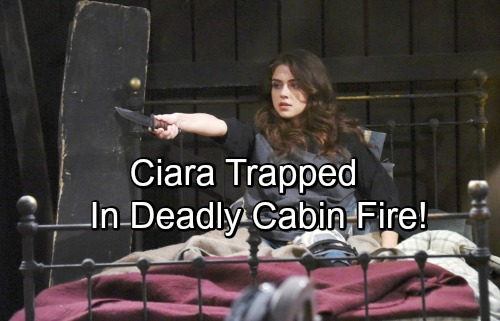 Days of Our Lives Spoilers: Ciara Trapped in Cabin Fire, Loses Consciousness – Rafe Pulls Her from the Flames