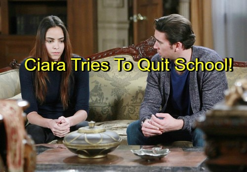Days of Our Lives (DOOL) Spoilers: Ciara Wants to Drop Out of School, Be Thomas' Nanny - Moves in With Chad, Develops Crush