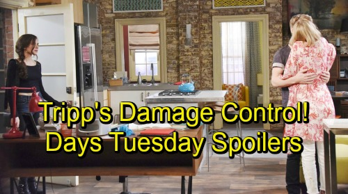Days of Our Lives Spoilers: Tuesday, September 18 – Suspicious Shawn Leans on Belle – Tripp Does Damage Control – Hope and Rafe Spar