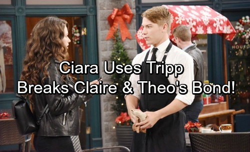 Days of Our Lives Spoilers: Ciara Exploits Tripp's Weakness – Destroys Claire and Theo's Bond for Good