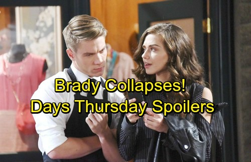 Days of Our Lives Spoilers: Thursday, April 26 – Brady Collapses After Drugged Drink Swap – Claire and Wyatt's Scheme Blows Up