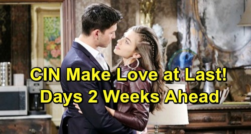 Days of Our Lives Spoilers: 2 Weeks Ahead Ciara and Ben Make Love for the First Time – Cin Sizzles in Steamy Scenes