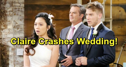 Days of Our Lives Spoilers: Claire Crashes Tripp & Haley's Wedding - Plays New Recording Exposing Sham Marriage
