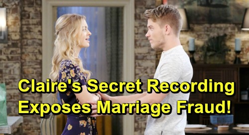 Days of Our Lives Spoilers: Claire Exposes Haley's Marriage Fraud - Secretly Tapes Tripp