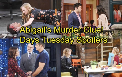 Days of Our Lives Spoilers: Tuesday, February 27 – Andre Gives Abigail a Clue – Kate and Vivian Squabble – Gabi's Prison Fears