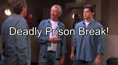 Days of Our Lives Spoilers: Clyde Breaks Out of Prison with Xander and Orpheus – Crashers Destroy Brady and Theresa's Wedding