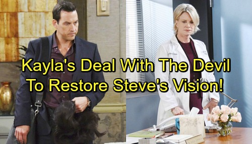 Days of Our Lives Spoilers: Stefan Forces Kayla to Help Destroy Kate – Steve's Vision Comes at a Steep Price