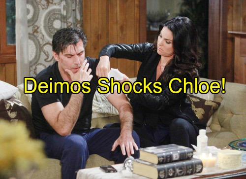 Days of Our Lives (DOOL) Spoilers: Chloe Shocked When Deimos Admits Prior Deception – Near-Death Experience Softens Deimos?