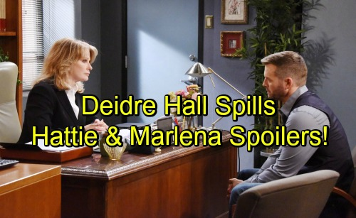Days of Our Lives Spoilers: Deidre Hall Dishes on Hattie's Jailhouse Return – Marlena's Rowdy Lookalike Saves Hope
