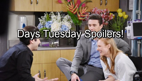 Days of Our Lives Spoilers: Tuesday, August 29 - Chloe Helps a Dazed Lucas – Chabby and PaulSon Pick a Joint Wedding Venue