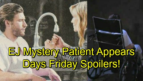 Days of Our Lives Spoilers: Friday, October 12 – EJ Mystery Patient Appears – Eric Makes Love to Nicole – Kate Faces Lucas' Baby Bomb