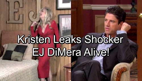 Days of Our Lives Spoilers: Kristen Hints EJ's Alive – Charming DiMera Returns from the Dead