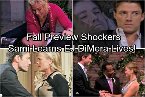 Days of Our Lives Spoilers: Fall Preview - Will's Return Sends Sami On Memphis Trip, Learns EJ DiMera Alive?