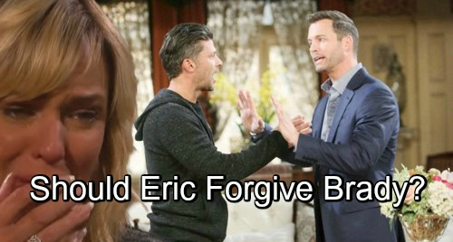 Days of Our Lives Spoilers: Remorseful Brady's Desperate Plan for Peace – Should Eric Forgive Brother for Nicole's Suffering?