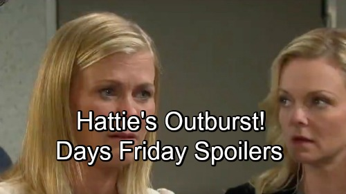 Days of Our Lives Spoilers: Friday, September 21 – Belle Faces Hattie's Outburst – Lucas' Request Stuns Adrienne – Eve Begs Jennifer
