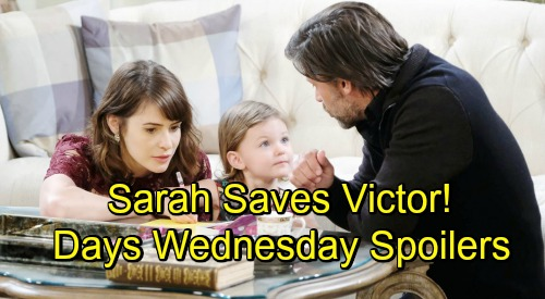 Days of Our Lives Spoilers: Wednesday, November 21 – Victor's Medical Scare, Sarah Steps Up – Sonny Shocks Will – Eric Gets an Invitation