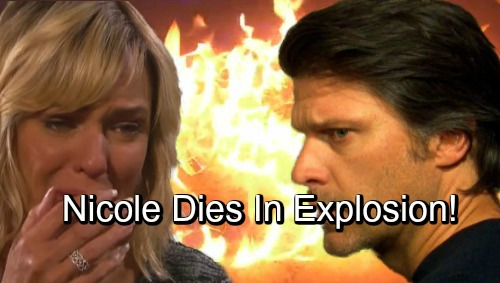 Days of Our Lives Spoilers: Nicole Dies In Explosion - Eric Left To Mourn, But Is She Really Dead?