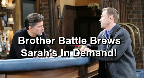 Days of Our Lives Spoilers: Brady Warns Rex About Eric - Then Spots Eric and Sarah Kissing!
