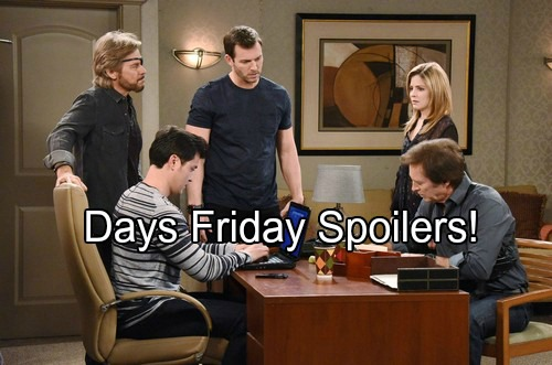 'Days of Our Lives' Spoilers: Steve Helps with Tate Search – Envious Belle Spots Philip with Chloe