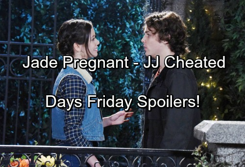 'Days of Our Lives' Spoilers: Joey Shocked by Jade's Pregnancy News – JJ Stuns Gabi with Cheating Confession