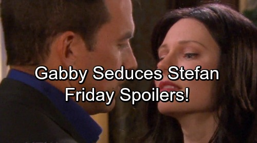 Days of Our Lives Spoilers: Friday, February 23 – 'Gabby' Seduces Stefan – Brady Shocks Eve – Claire Uncovers the Truth
