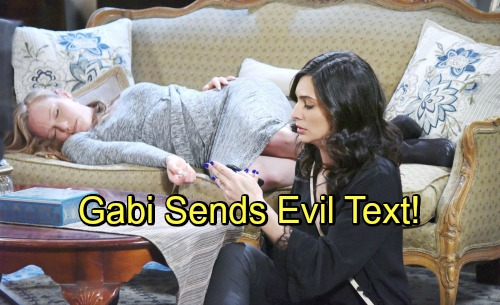 Days of Our Lives Spoilers: Gabi Swipes Abigail's Phone - Startling Text Reignites War with Chad