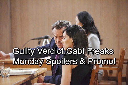 of Our Lives Spoilers: Monday, April 9 – Guilty Verdict Sends Gabi Over the Edge – Maggie and Victor Suspect Vivian's Trap