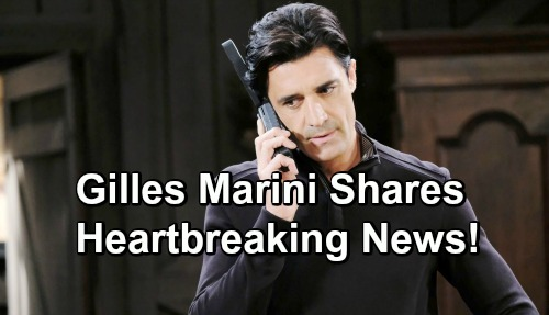 Days of Our Lives Spoilers: Gilles Marini Shares Tragic News About Heartbreaking Loss