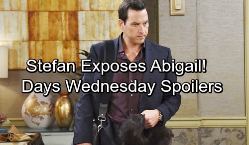 Days of Our Lives Spoilers: Wednesday, April 4 – Stefan Divulges Mystery Woman's Identity