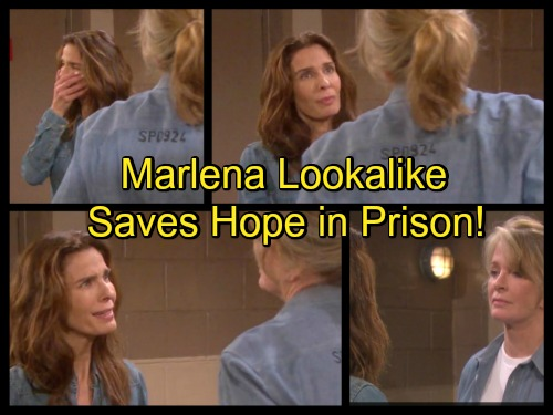 Days of Our Lives Spoilers: Hope Struggles in Prison – Marlena's Lookalike Pops Up, Hattie Serves as Protector