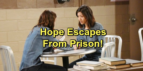 'Days of Our Lives' Spoilers: Hope Escapes From Prison, Coco and Shelia Want Her Dead