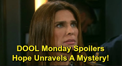 Days of Our Lives Spoilers: Monday, October 14 – Nicole Intercepts Eric's Envelope – Xander's Blissful Fantasy – Hope Unravels a Mystery