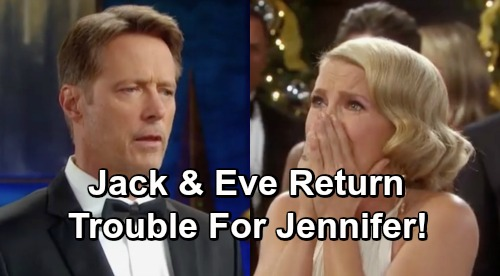 Days of Our Lives Spoilers: Eve Donovan and Jack Deveraux Return To Salem - Trouble For Jennifer Horton