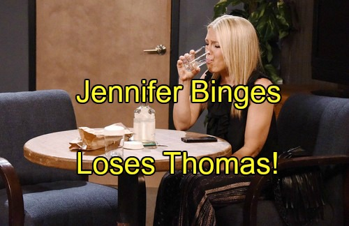 'Days of Our Lives' Spoilers: Jennifer's Wild Night of Pills and Booze – Belle Hides Relapse from Chad, Thomas at Risk