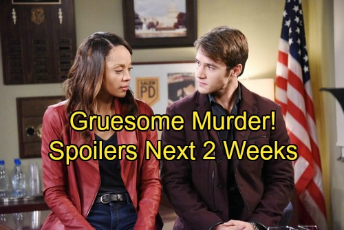Days of Our Lives Spoilers: Next 2 Weeks - Gruesome Murder In Salem – JJ Stops Lani's Abortion Plan – Kyler Pettis Final Airdate