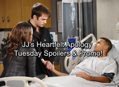 Days of Our Lives Spoilers: Tuesday, December 26 - Ciara and Claire Battle for Awake Theo's Heart – JJ's Emotional Apology
